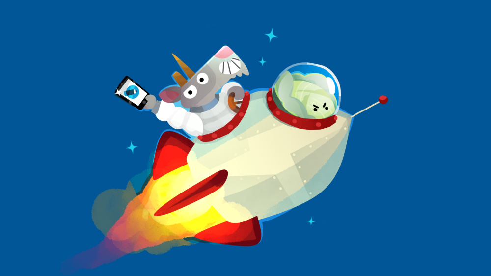 Маскоты ЖЖ козел Фрэнк и Мистер Капуста празднуют День космонавтике на орбите Земли