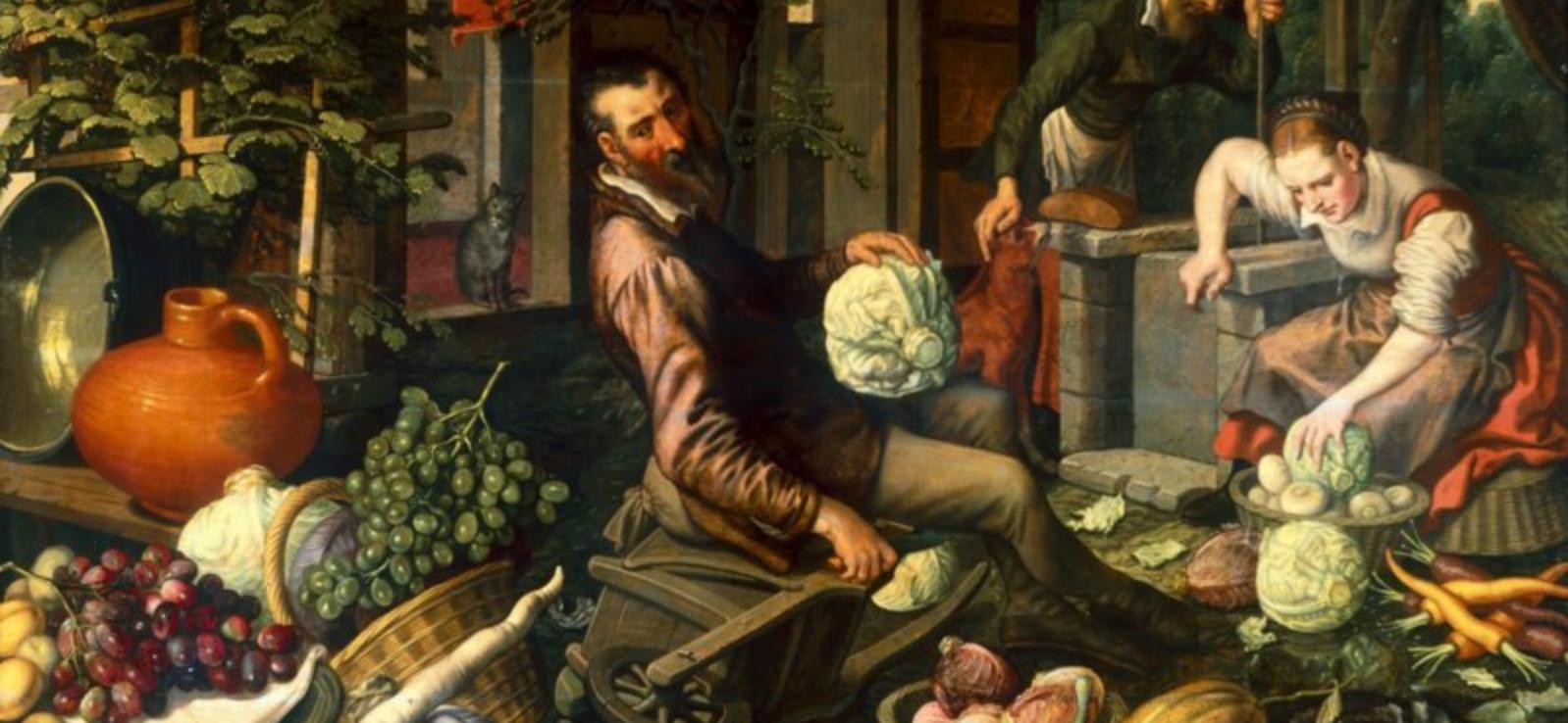 Pieter Aertsen, Market Scene, 1569. Hallwyl Museum, Фрагмент