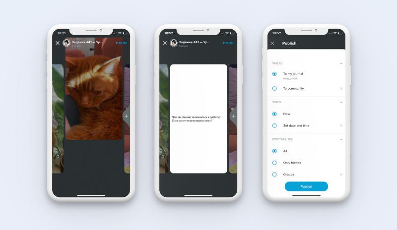 Мобильное приложение Живого Журнала: создание и публикаций записи