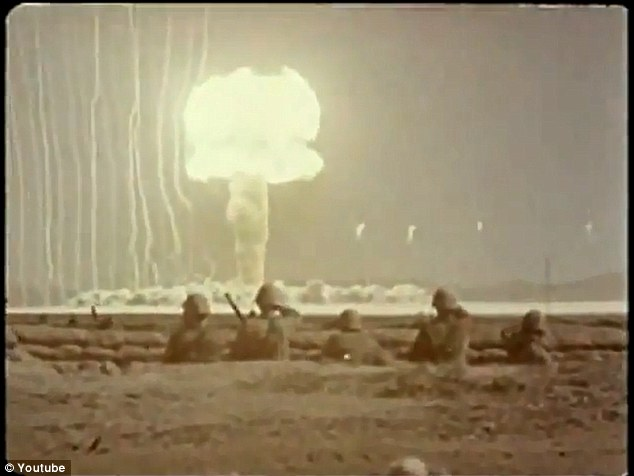 Soldiers in the 1950s witnessed atomic bomb explosions from close range