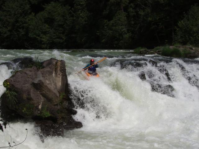 Teresa runs White Salmon falls