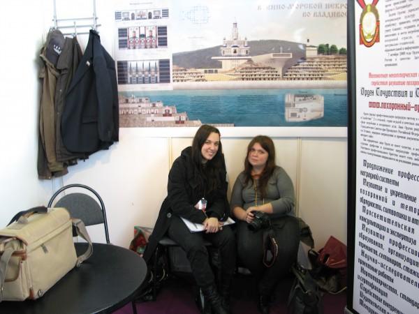 Авторы на выставке Некрополь 2012