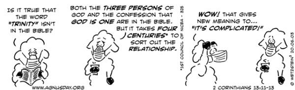 Athanasian creed trinity .covid