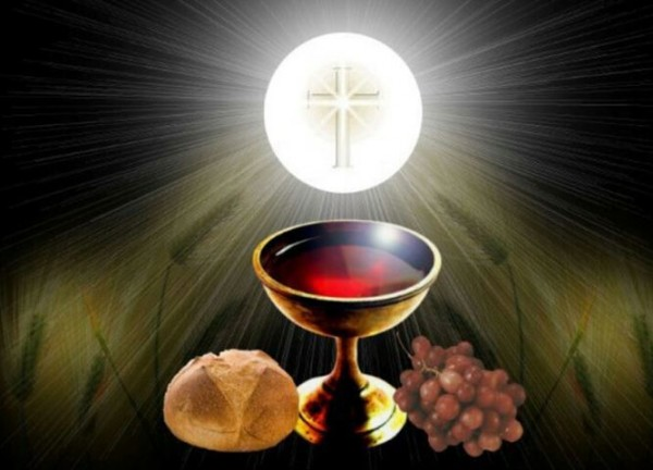 Body blood communion cup