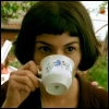 new amelie with tea