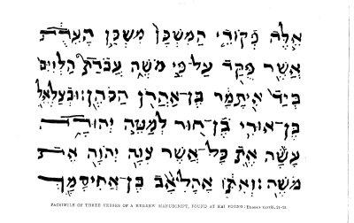 Hebrew manuscript written in China