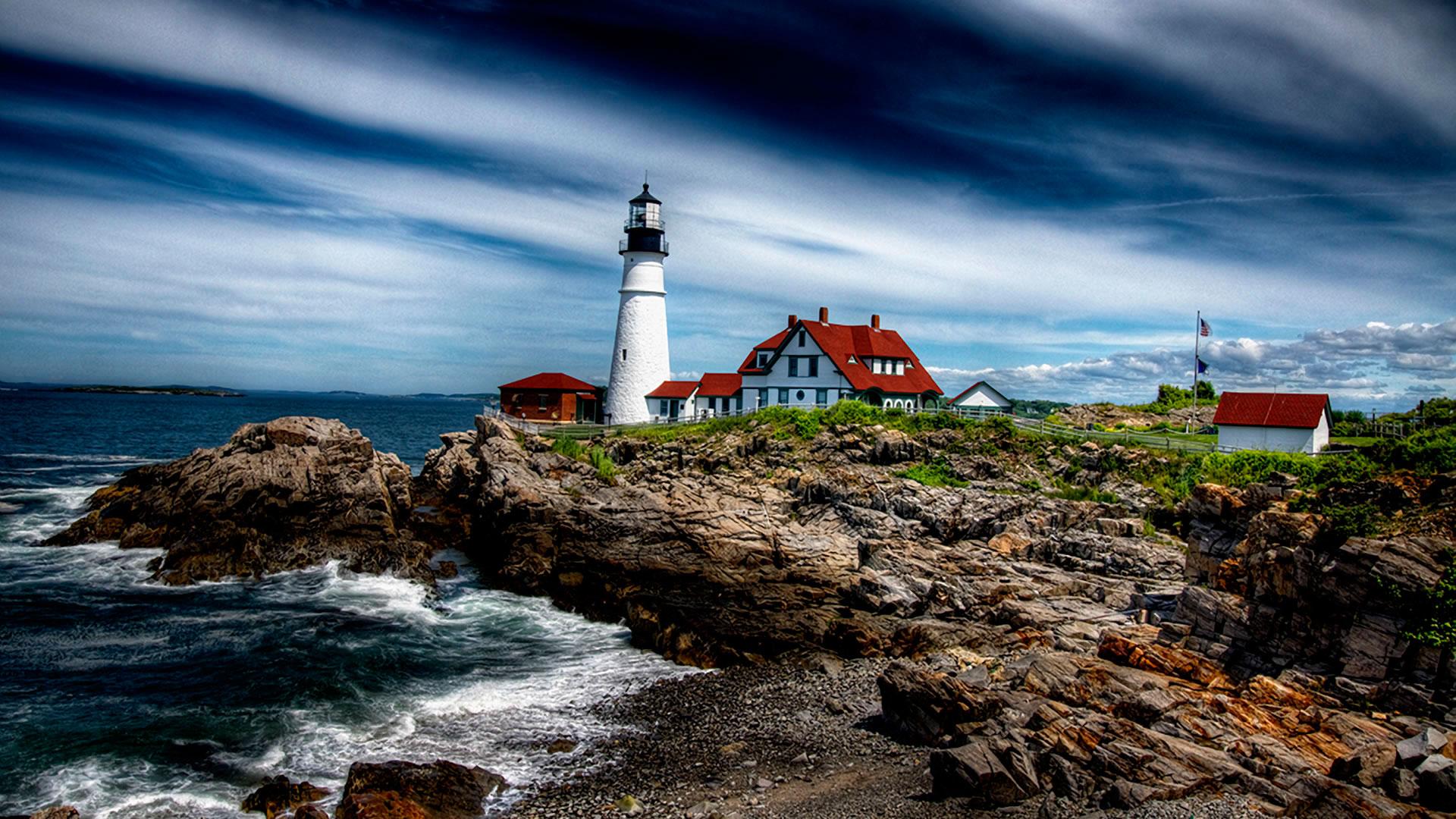 маяк небо море дом  № 3968814 бесплатно