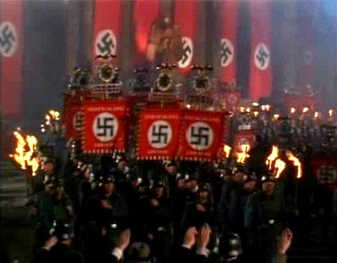 факельное шествие  в фашисткой Германии