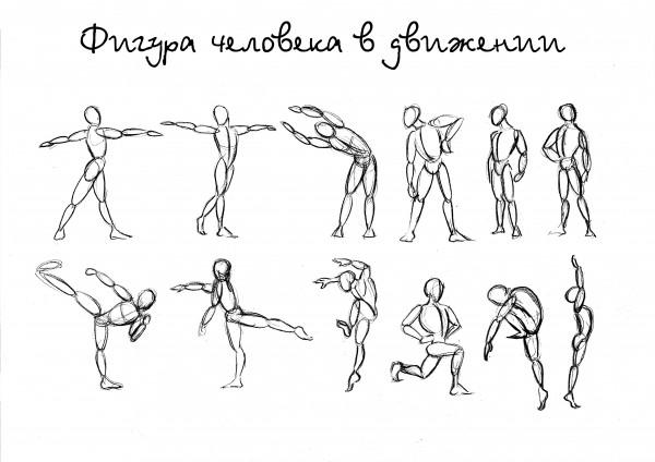 схема человека в движении фото