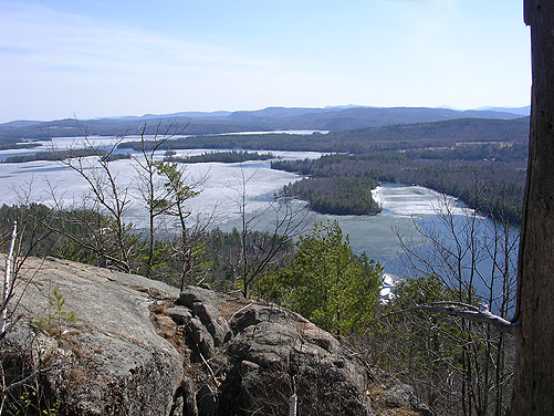 View of the lake from the top of Mount Poisonous Reptile