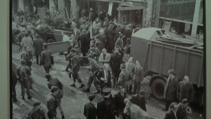 Aftermath of a Belfast bomb