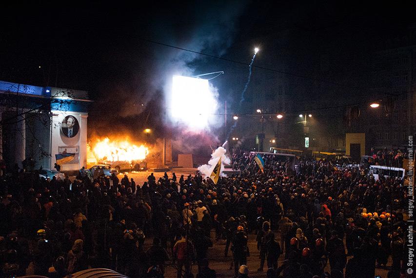 Беспорядки на Грушевского в Киеве