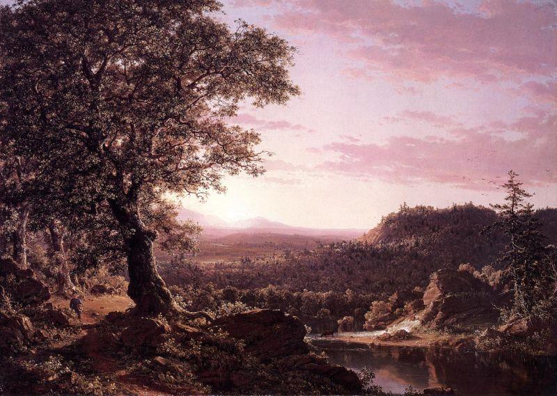Июль Закат, Беркшир, штат Массачусетс. 1847