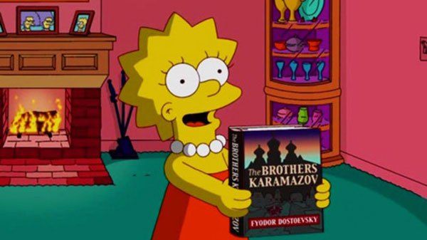 Лиза Симпсон и Достоевский