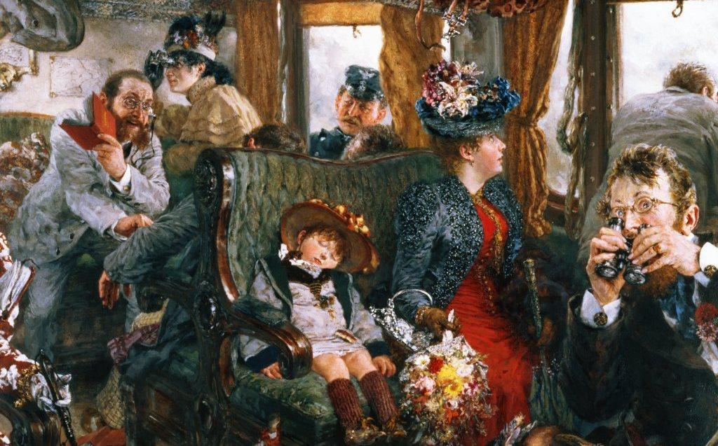 А. фон Менцель «Прогулка на поезде»