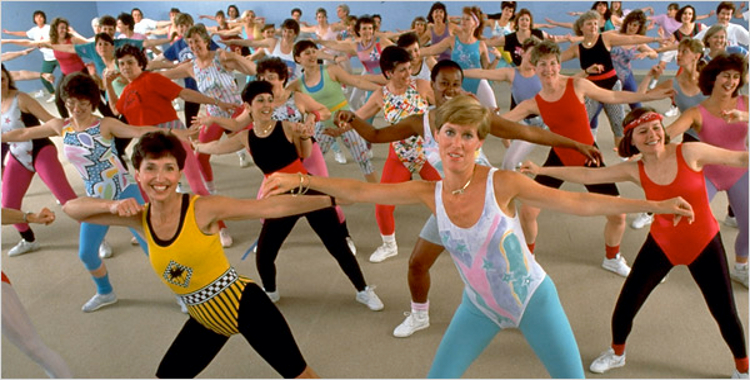 аэробика спортивный бум 1980