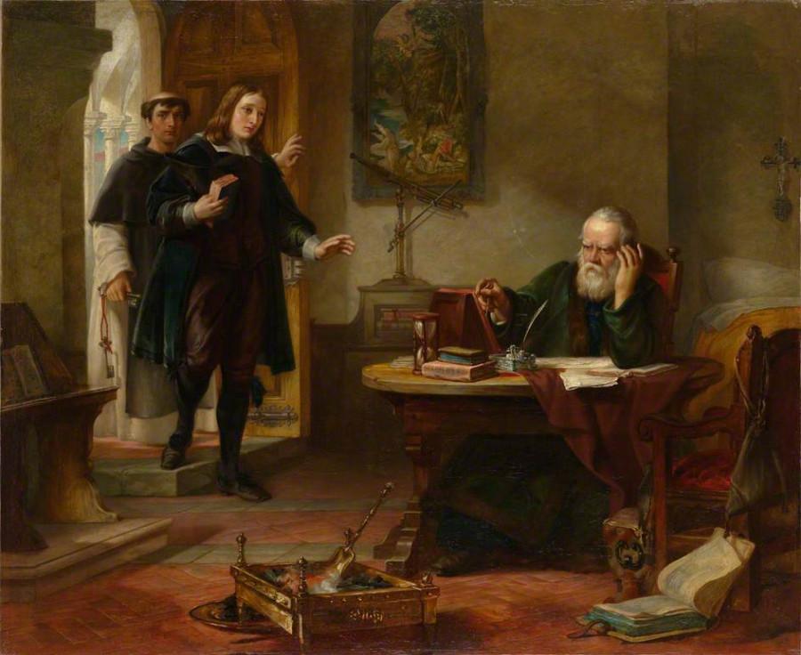 Мильтон, посещающий заточенного инквизицией Галилея