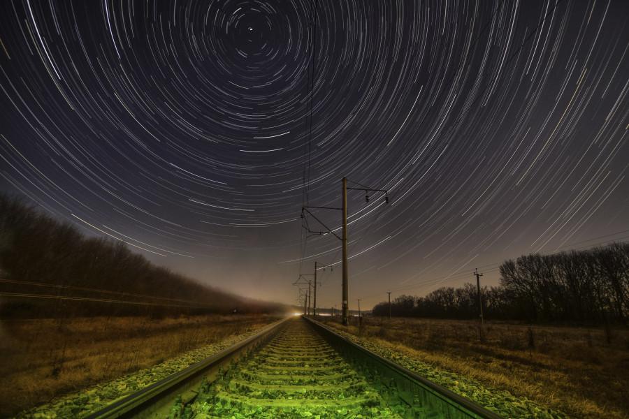Движенье звезд по небосклону