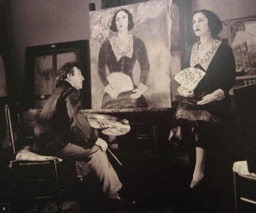 Марк Шагал в мастерской