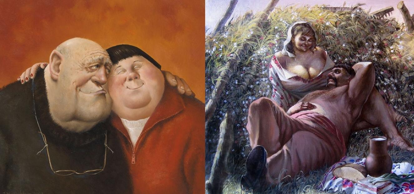 Картины художников Мариуса ван Доккум и Александра Иванова