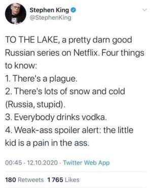 Стивен Кинг прокомментировал сериал «Эпидемия» в Твиттере