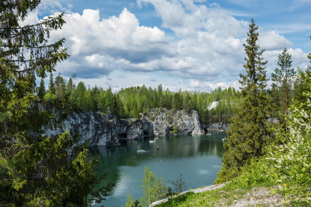 Мраморный карьер. Республике Карелия, Россия. Фото: EastNews