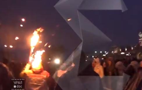 Очередной пипец с факелом - загорелась шапка