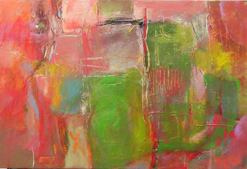 Composition on canvas 2017(2), acrylic, 70x100-2