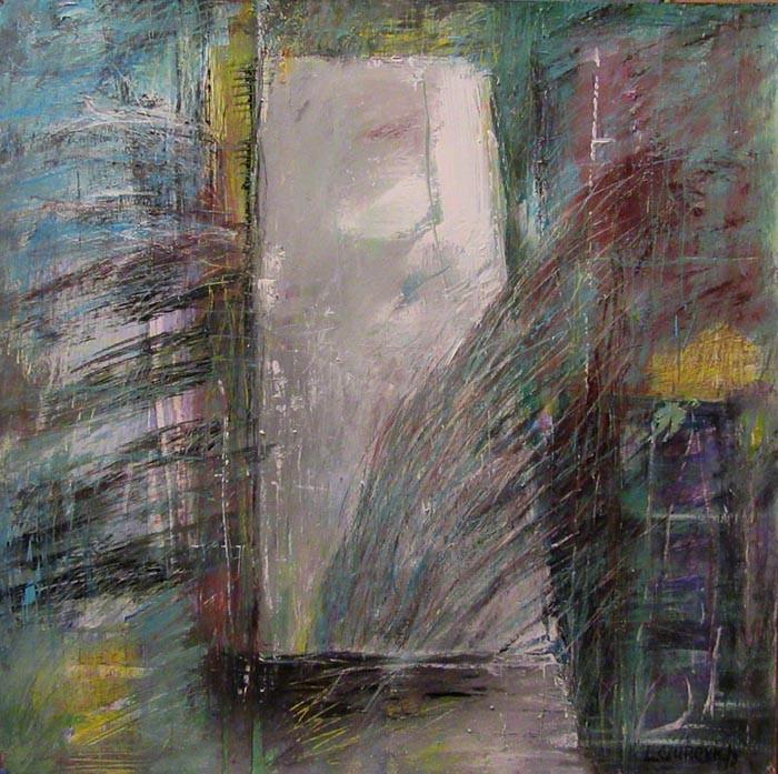 Composition on paper 2017(1), acrylic, 72х72-22