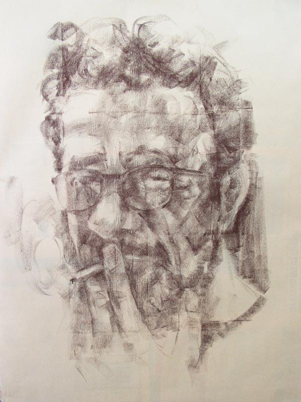 The Smoker 1 (2020), paper, 85x67, sauce-2