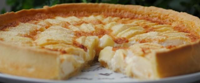 Пирог с яблоками рецепт из слоеного теста