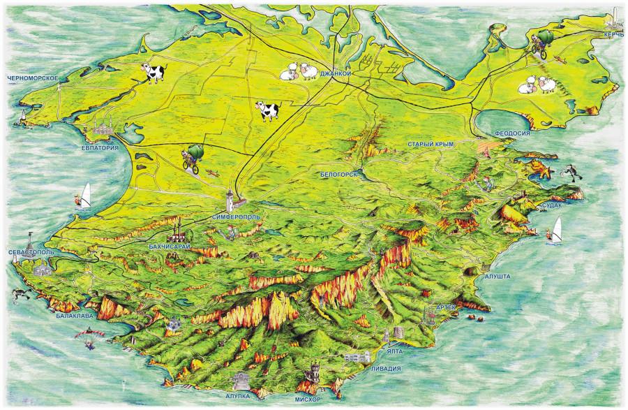 картинки карт крыма протяжении десятилетий люди