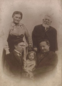 1924 - Clara Mash, William, Arthur and two George Wards