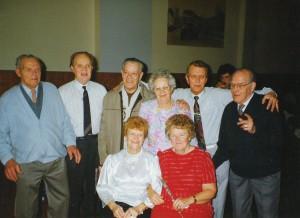 1993-01-30 - Browning siblings - Arthur, Stan, Ken, Ivy, George, Cyril, Marion, Marjorie - Marj and George Piddock's ruby wedding
