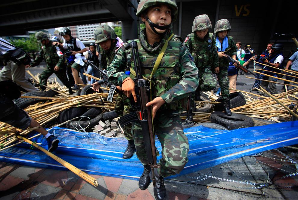 Акции протеста и репрессии в Тайланде.