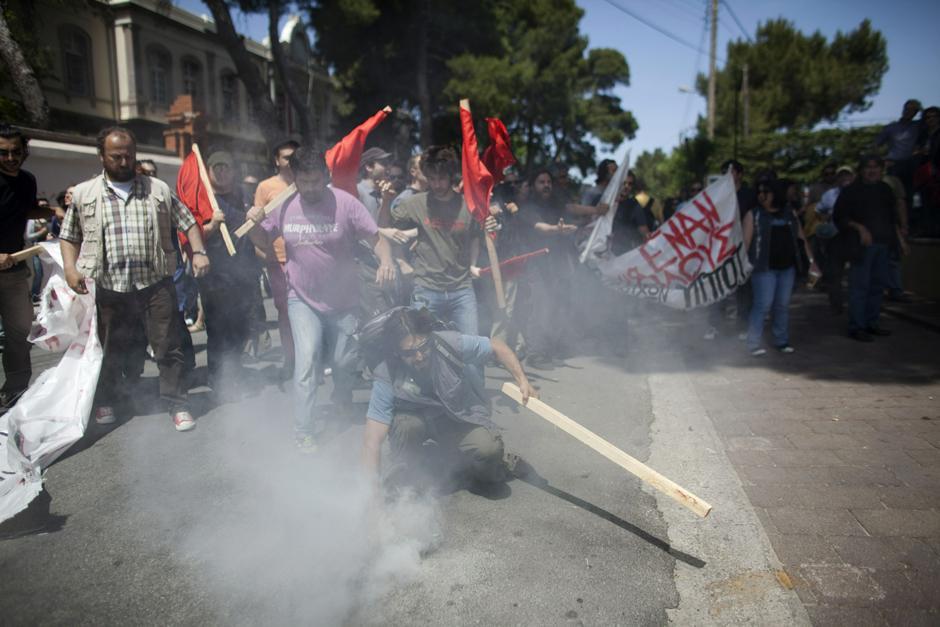 9 Протесты в Греции.