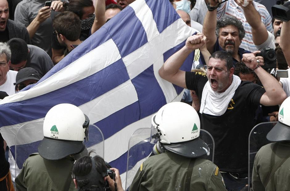 15 Протесты в Греции.