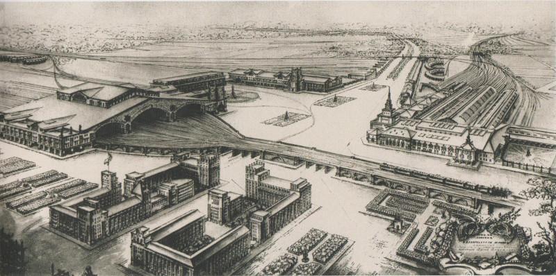 07. Проект реконструкции Каланчёвского путепровода. А.В. Щусев. 1922 год