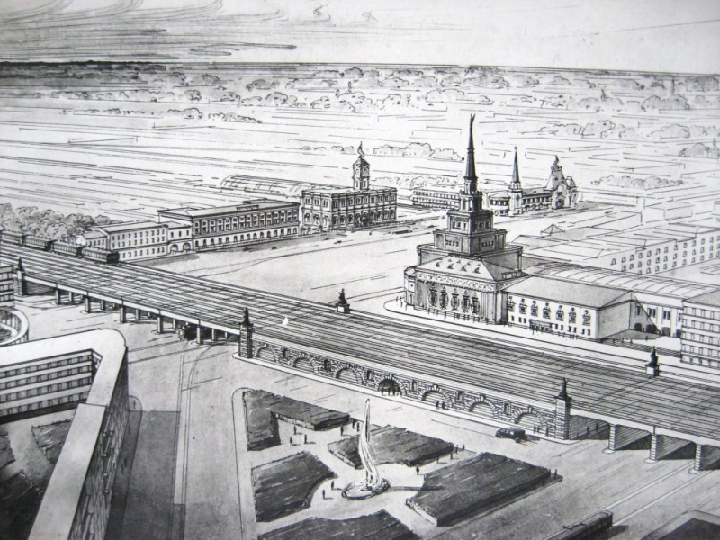 08. Проект реконструкции Каланчёвского путепровода. 1933 год