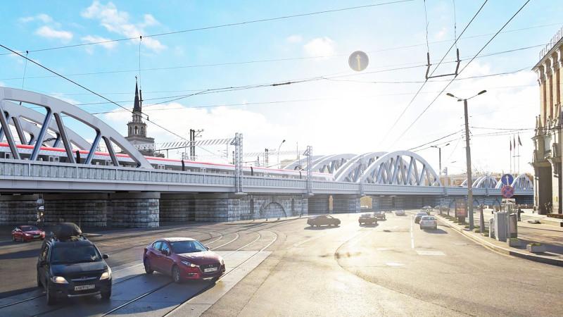 20. Проект реконструкции Каланчёвского путепровода. Вариант 4. НПИИ «Сибжелдорпроект». 2020 год