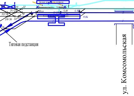 05. Проект реконструкции Каланчёвской в рамках Московских Центральных Диаметров. Вариант 1. Фрагмент схемы переустройства железнодорожных путей