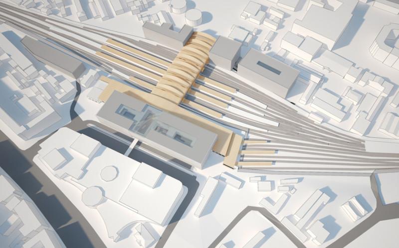 17. Проект реконструкции Курского вокзала. 2012 год. Weston Williamson