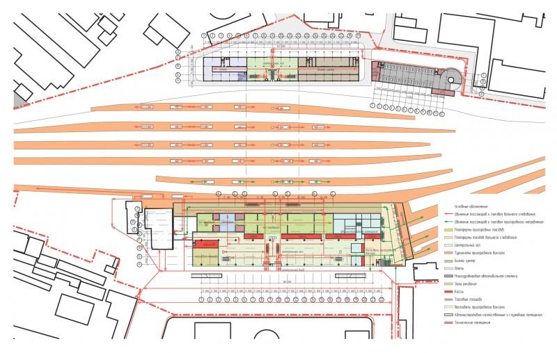 21. Проект реконструкции Курского вокзала. 2012 год. Проектно-строительное бюро Bulwark