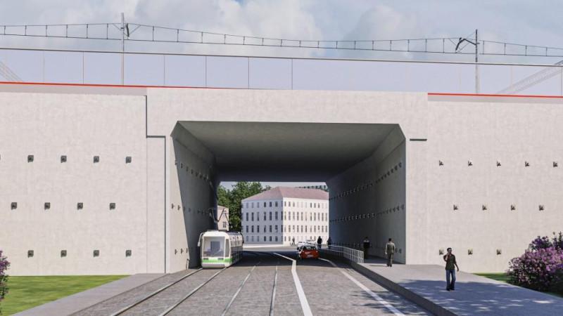 24. Проект тоннеля по Сыромятническому проезду. Вид на новую (южную) часть. ООО «Интермост». 2020 год