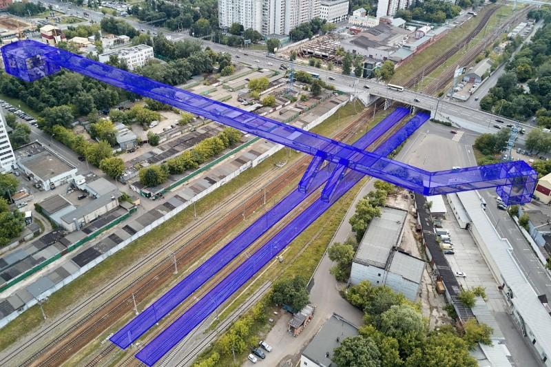 10. Проект платформы Марьина роща. Фотомонтаж. АО «Мосгипротранс». 2018 год