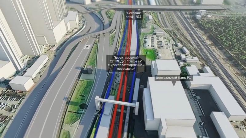 30. Проект реконструкции платформы Беговая. Отвергнутый вариант. Восточная платформа. 2018 (?) год
