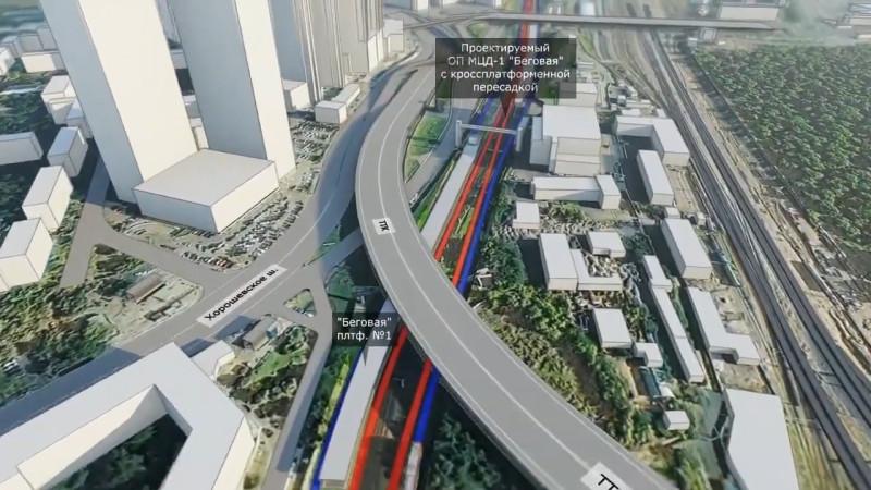 31. Проект реконструкции платформы Беговая. Отвергнутый вариант. Западная платформа. 2018 (?) год