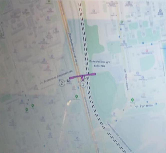 03. Проект надземного пешеходного перехода в створе улицы Всеволода Вишневского. 2019 год
