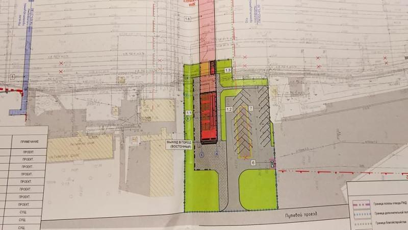 15. Проект реконструкции платформы Бескудниково. План восточного выхода. 2020 год
