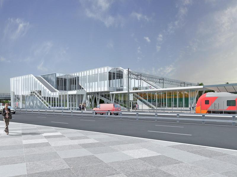 43. Проект реконструкции платформы Марк. Вариант 2. Вид на выход к Новодачному шоссе. 2019 год